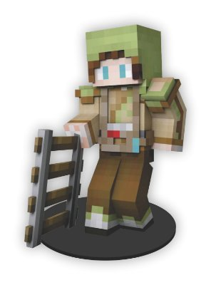 Boneco Mini Toten Minecraft 02