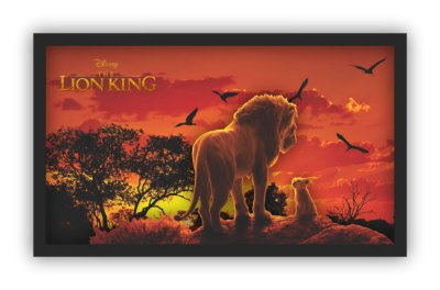 Quadro 3D LED - O Rei Leão - 70x42cm - Edição Limitada