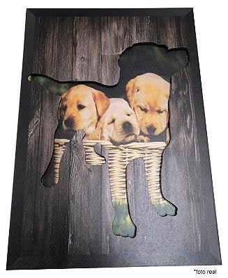 Quadro 3D - Cachorro