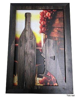 Quadro 3D - Vinho