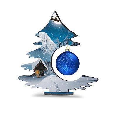 Árvore de Natal de Mesa - Casa na Neve