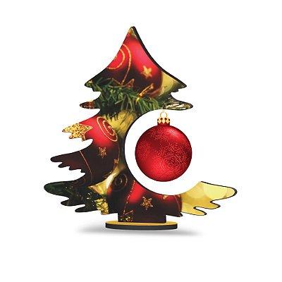 Árvore de Natal de Mesa - Bolas Vermelhas