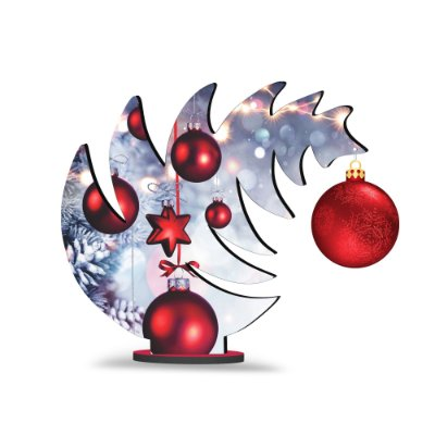 Árvore de Natal de Mesa Curvada - Estrela