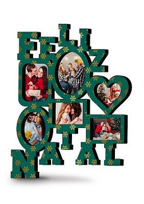 Painel de fotos Natalino Personalizado MDF (Verde)