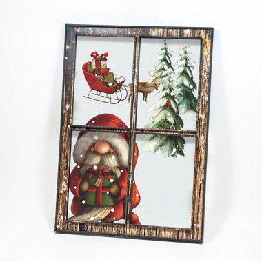 Quadro-Janela - Papai Noel