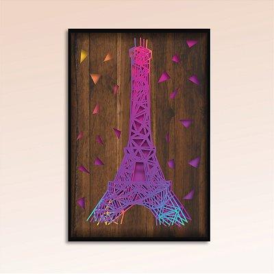 Quadro Torre Eiffel Múltiplas Camadas para Decoração de Parede