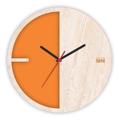 Relógio de Parede ColorClock Meia Lua LARANJA