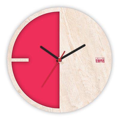 Relógio de Parede ColorClock Meia Lua VERMELHO