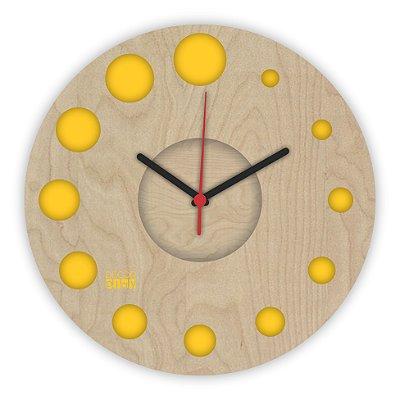 Relógio de Parede ColorClock Círculos AMARELO