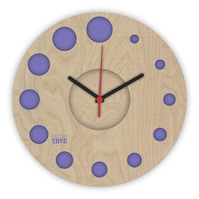 Relógio de Parede ColorClock Círculos ROXO