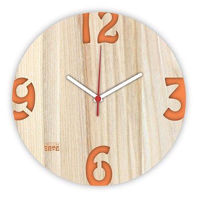 Relógio de Parede ColorClock Números LARANJA