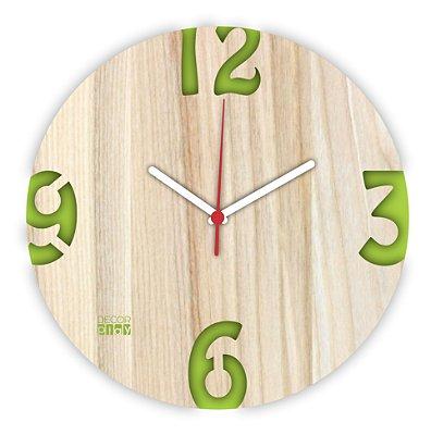 Relógio de Parede ColorClock Números VERDE
