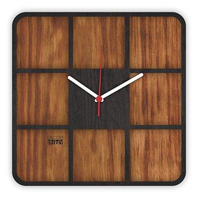Relógio de Parede Wooden Clock 09