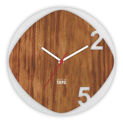Relógio de Parede Wooden Clock 14
