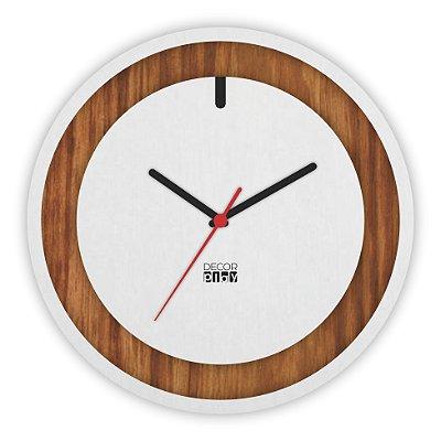 Relógio de Parede Wooden Clock 12
