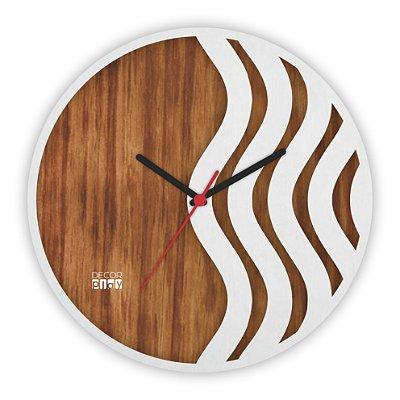 Relógio de Parede Wooden Clock 15