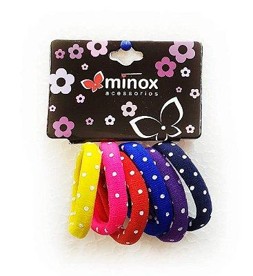Elástico de meia colorido com bolinhas Minox
