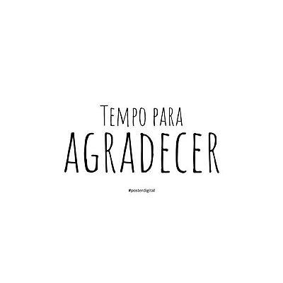 Poster Agradecer