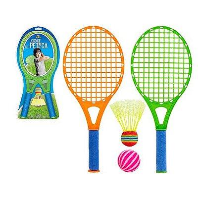 Jogo de Peteca com 2 Raquetes