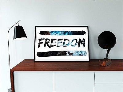 Quadro Decorativo Para Móveis e Prateleiras FREEDOM