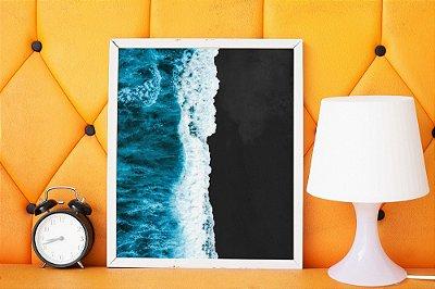 Quadro Decorativo Black Sand Beach
