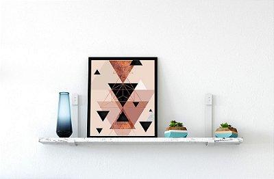 Quadro Decorativo Para Prateleiras Figuras Geométricas / Geometric Arts