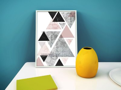 Quadro Decorativo Figuras Geométricas : Triangle Marble Arts