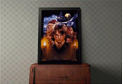 """Quadro Decorativo Temático Filmes """"Harry Potter e A Pedra Filosofal"""""""