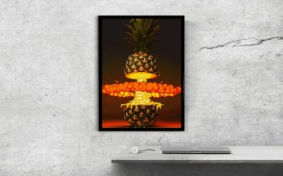 Quadro Decorativo Pineapple Explosion