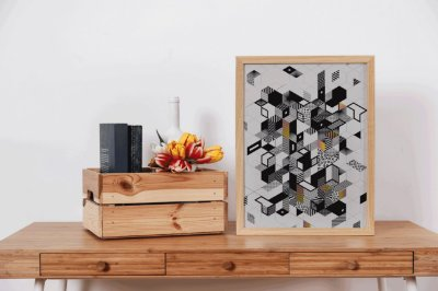 Quadro Decorativo Mosaic Abstract Geometric