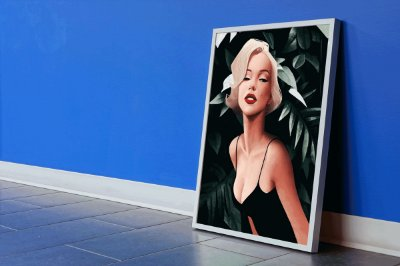 Quadro Decorativo Marilyn Monroe Digital Painting