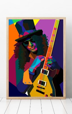 Quadro Decorativo Temático Rock Abstract Slash - Guns N Roses