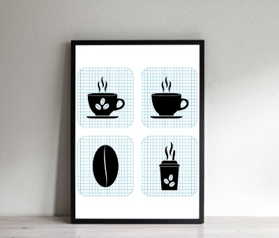 Quadro Decorativo Grid Coffee