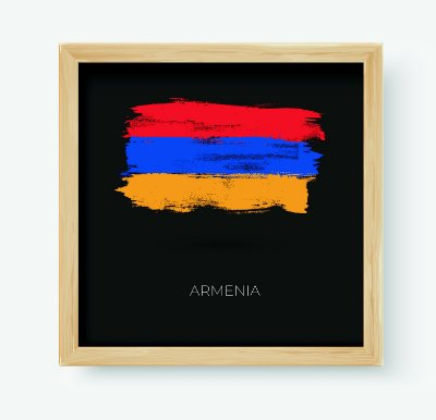Quadro Decorativo Juvenil País Armenia