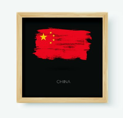 Quadro Decorativo Juvenil País China