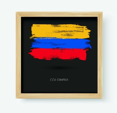 Quadro Decorativo Juvenil País Colombia