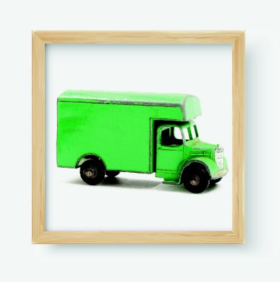Quadro Decorativo Infantil/Juvenil Old Car Van Toy