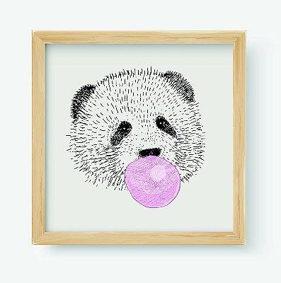 Quadro Decorativo Infantil Panda Bubble Gum