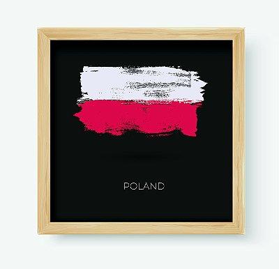 Quadro Decorativo Juvenil País Poland