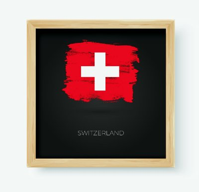 Quadro Decorativo Juvenil País Switzerland