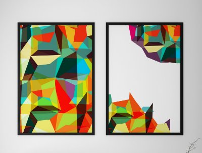Kit 2 Quadros Decorativos Abstratos Modern And Trendy Patterns Arts