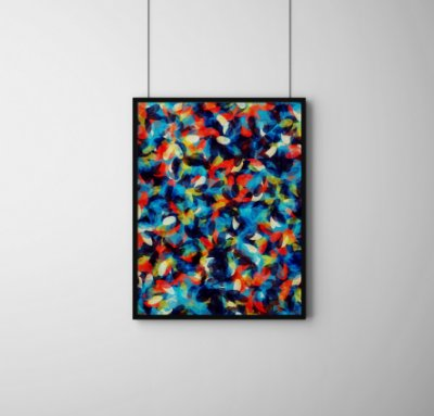 Quadro Decorativo Abstrato Abstract Bright Background Pattern