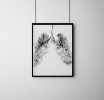 Quadro Decorativo Abstrato Smoke Lung