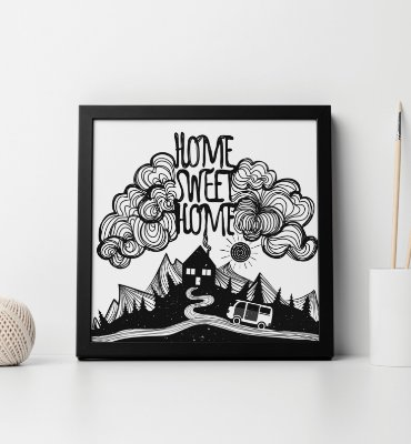 "Quadro decorativo ""Home sweet home"""
