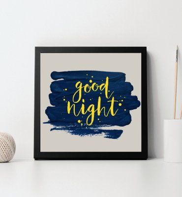 "Quadro decorativo ""Good night"""