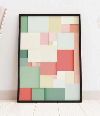 Quadro Decoratvo Abstract Geometric Background