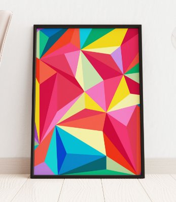 Quadro Decorativo Triangle Abstract Background