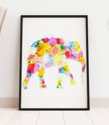Quadro Decorativo Illustration Of An Abstract Elephant