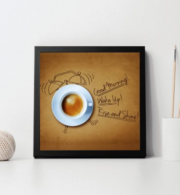 "Quadro decorativo ""Good morning! wake up! rise and shine!"""
