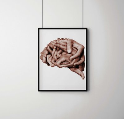 Quadro Decorativo Abstrato Human Brain Made With Hands